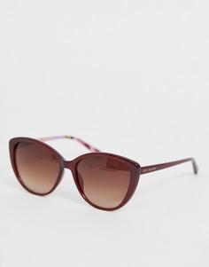 Красные солнцезащитные очки кошачий глаз Ted Baker - Красный