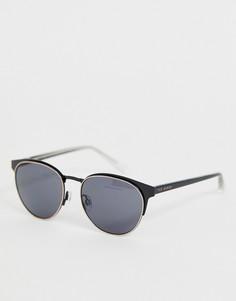 Черные круглые солнцезащитные очки Ted Baker - Черный
