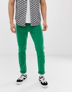 Ярко-зеленые зауженные джинсы ASOS DESIGN - Зеленый