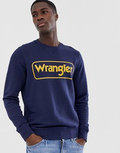 Свитер с логотипом Wrangler - Темно-синий