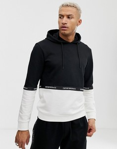 Черно-белый свитшот с капюшоном Emporio Armani - КОМПЛЕКТ 2 - Черный