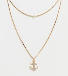 Золотистое ожерелье с подвеской-якорем ALDO Melassa - Золотой