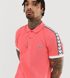 Розовое поло с отделкой кантом на рукавах Fred Perry эксклюзивно на ASOS - Розовый