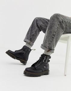 Черные ботинки с 8 парами люверсов Dr Martens 1460 - Черный