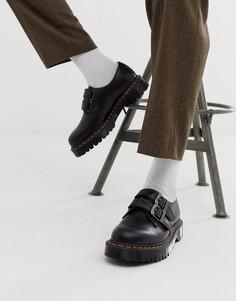 Черные туфли с 3 парами люверсов Dr Martens 1461 - Черный
