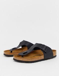 Черные сандалии Birkenstock Ramses birko-flor - Черный