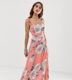 Платье макси с разрезом Sisters Of The Tribe - Розовый
