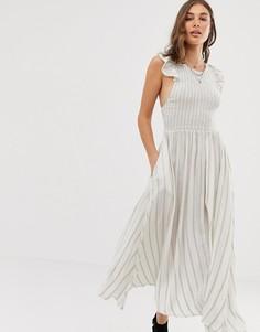 Платье макси Free People Butterfly - Белый
