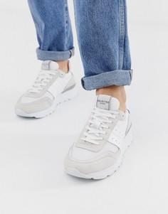 Кроссовки с отделкой из сетки Selected Homme - Белый