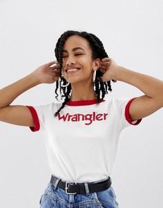 Футболка с логотипом Wrangler - Белый