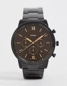 Часы с хронографом Fossil FS5525 Neutra 44 мм - Черный