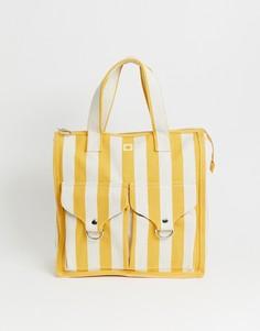 Пляжная сумка в полоску L.F.Markey - Белый