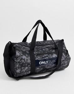 Спортивная сумка с принтом Only Play - Черный