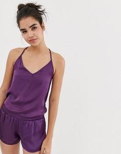 Пижамный комплект с топом на бретелях и шортами Chelsea Peers - Фиолетовый