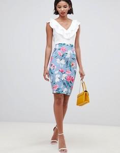 Платье 2-в-1 с цветочным принтом Paper Dolls - Мульти