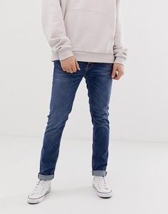 Зауженные джинсы цвета индиго Nudie Jeans Co Lean Dean - Синий