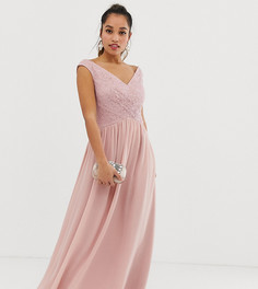 Платье макси с запахом Little Mistress Petite - Розовый