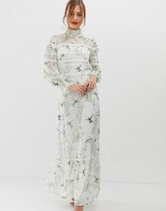 Платье макси с кружевной отделкой Ted Baker Hariet - Мульти
