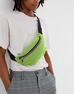 Неоново-зеленая сумка‑кошелек на пояс SVNX - Черный 7X