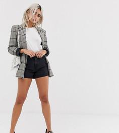 Шорты в винтажном стиле с завышенной талией Vero Moda Petite - Черный