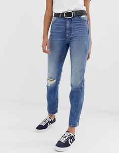 Джинсы в винтажном стиле с рваной отделкой Wrangler Icon 11wwz - Синий