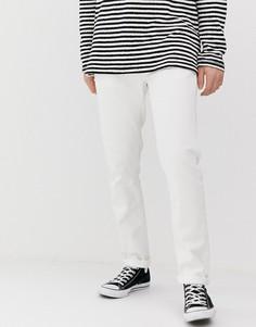 Белые узкие джинсы Nudie Jeans Co Lean Dean - Белый