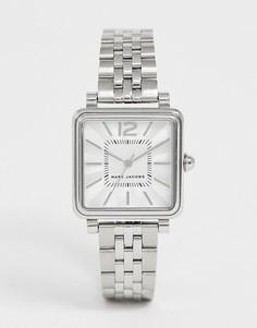 Серебристые женские часы с квадратным циферблатом Marc Jacobs MJ3461 - Серебряный