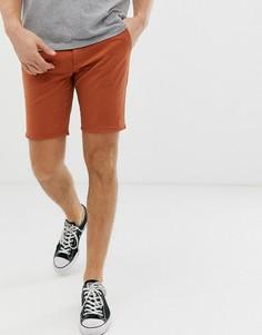 Оранжевые саржевые шорты чиносы Farah Hawk - Оранжевый