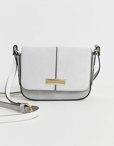 Серая сумка через плечо с клапаном River Island - Серый