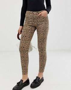 Джинсы с леопардовым принтом b.Young - Мульти