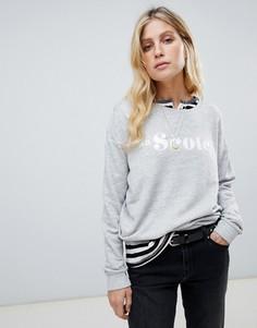 Maison Scotch logo sweatshirt - Серый