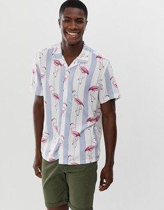 Рубашка в полоску с отложным воротником Brave Soul - Белый