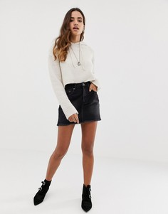 Джинсовая юбка с бахромой One Teaspoon 2020 - Черный