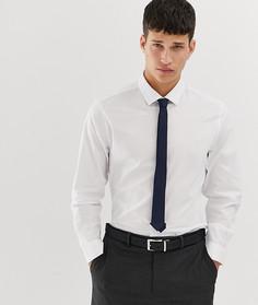 Белая приталенная рубашка с темно-синим галстуком и платком для пиджака ASOS DESIGN - Мульти