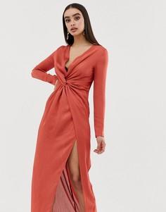 Платье макси с узлом Club L - Красный