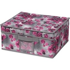 Короб для хранения Handy Home Роза, Д330 Ш280 В150, розово-серый