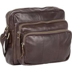 Cумка Polar 1584 Coffee сумка верт. средняя кожа