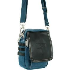 Рюкзак Polar М313 синий верт.малая сумка молодежная брезент