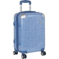 Чемодан Polar Р1011 (2-ой) голубой (24) пластик ABS чемодан средний (TH17-7108)