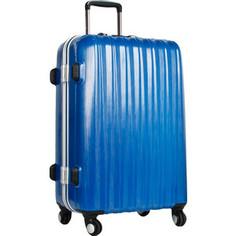 Чемодан Polar Р1155 (3-ой) синий (20) пластик ABS чемодан малый 4-е колеса