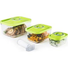 Контейнеры для вакуумных упаковщиков STATUS VAC-Glass-Set Green