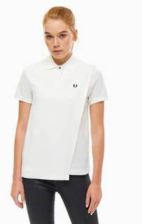 Белая футболка поло оригинального кроя Fred Perry