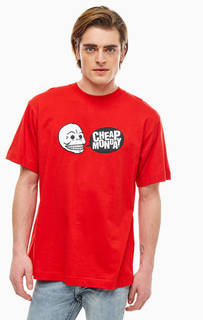 Хлопковая футболка с логотипом бренда Cheap Monday