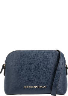 Маленькая сумка на молнии с тонким плечевым ремнем Emporio Armani