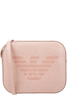 Маленькая кожаная сумка через плечо Emporio Armani