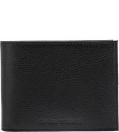 Черное портмоне из натуральной кожи Emporio Armani