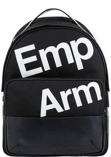 Текстильный городской рюкзак с декоративным принтом Emporio Armani