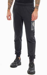 Хлопковые брюки джоггеры в спортивном стиле EA7