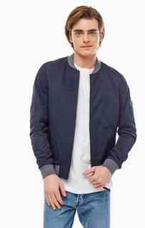 Легкая синяя куртка-бомбер на молнии Tom Tailor Denim