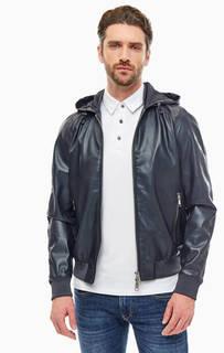 Синяя куртка с капюшоном Armani Exchange